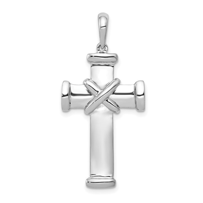 Quality Gold 14k White Gold Latin Cross Pendant