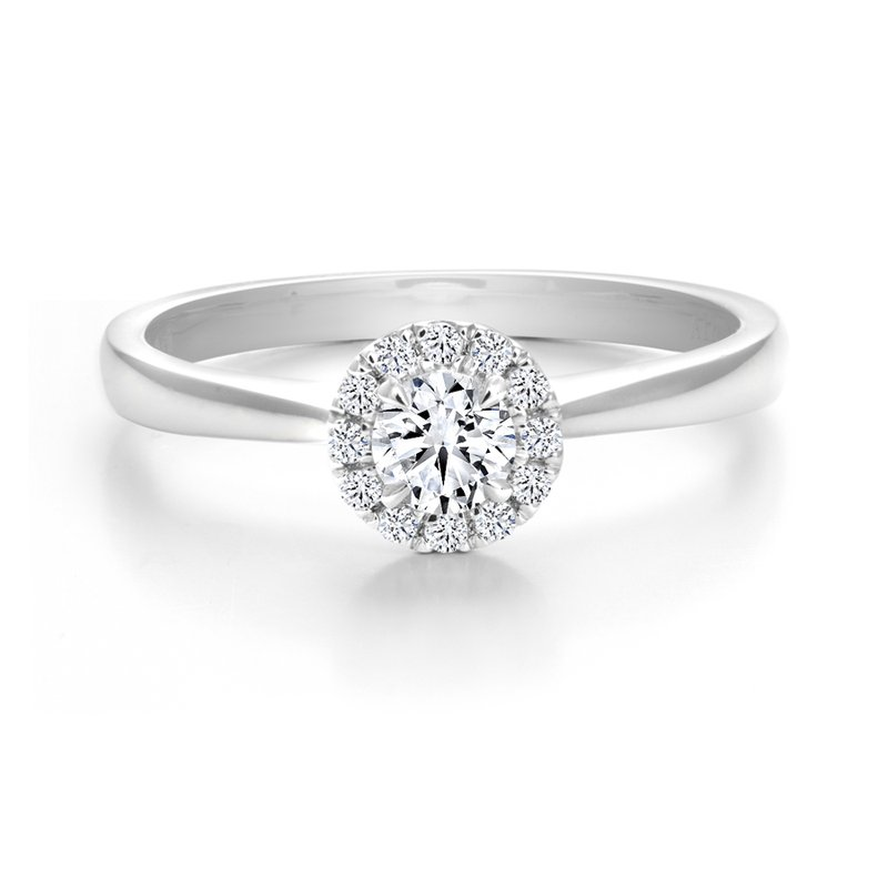 Canadian Rocks Classic Halo Diamond Engagement Ring