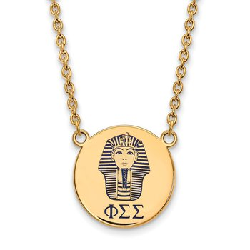 Gold-Plated Sterling Silver Phi Sigma Sigma Greek Life Necklace