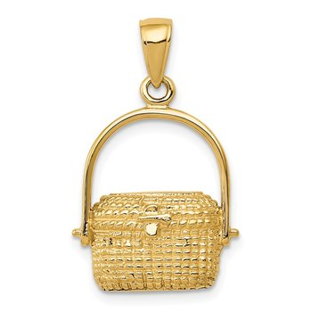 14k Large Nantucket Basket Pendant