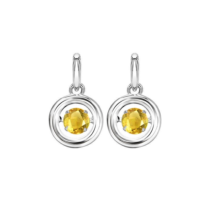 Rhythm of Love Silver Citrine Rhythm Of Love Earrings