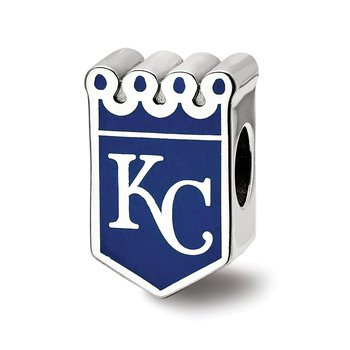 Sterling Silver Kansas City Royals MLB Bead