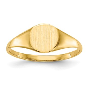 14k 6.5x7.5mm Closed Back Signet Ring