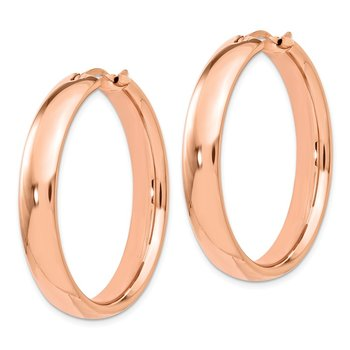 Leslie's Sterling Silver Rose Gold-plated 6mm Half Round Tube Earrings