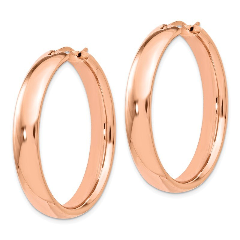 Leslie's Leslie's Sterling Silver Rose Gold-plated 6mm Half Round Tube Earrings