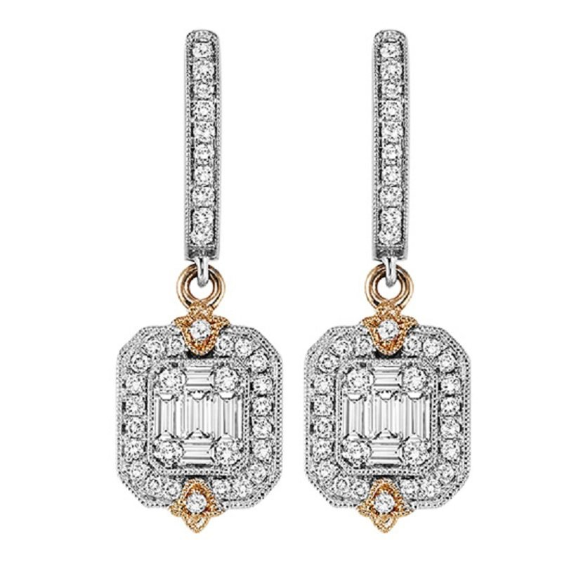 Gemsone 14K Diamond Earrings 3/4 ctw