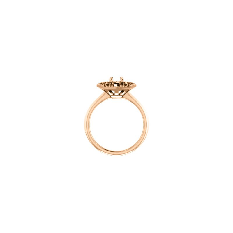 Stuller 18K Rose 5.2 mm Round Halo-Style Engagement Ring Mounting