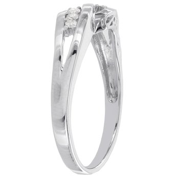 Sterling Silver 1/10ct TDW Diamond Ring