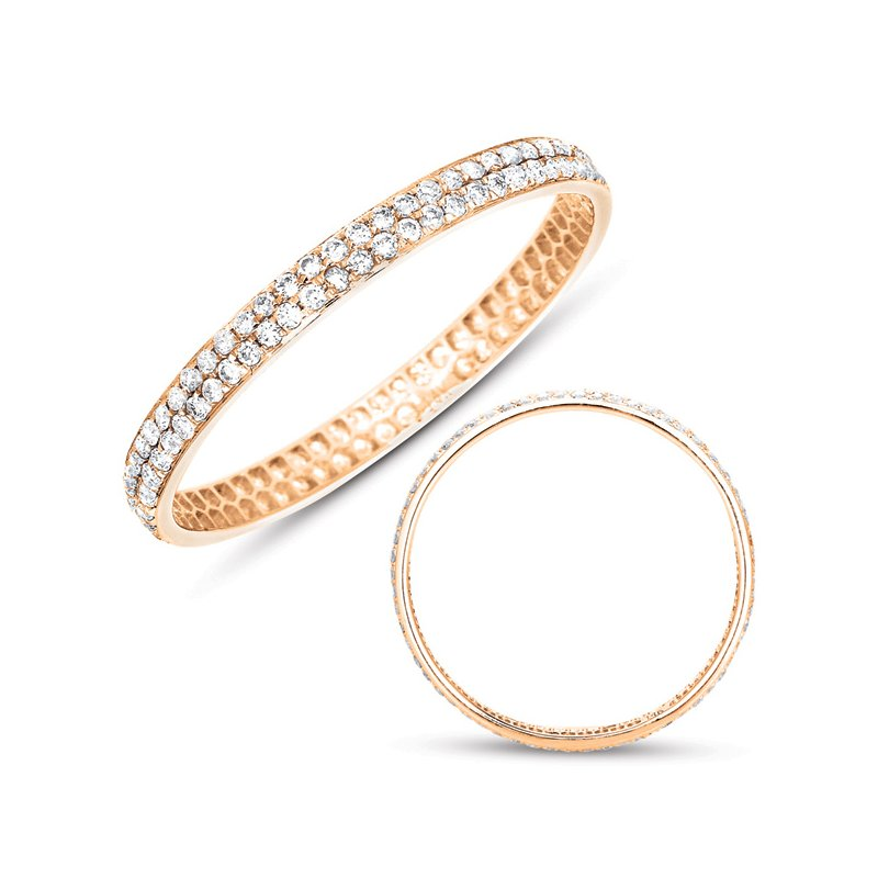 S. Kashi & Sons Bridal Rose Gold Pave Band