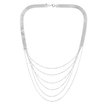 Silver Bismark Cable Layered Necklace
