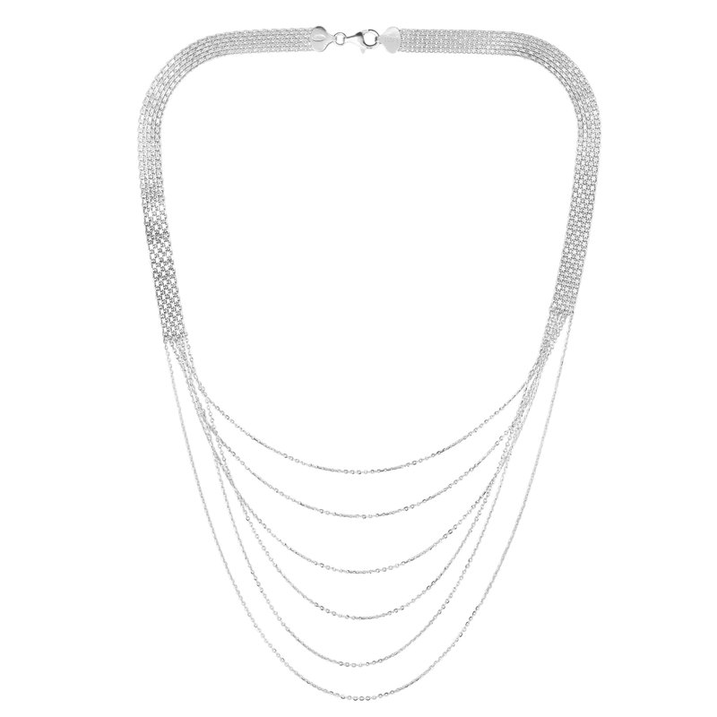 Royal Chain Silver Bismark Cable Layered Necklace