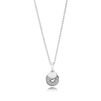 Celebration Hearts Pendant Necklace, Clear Cz