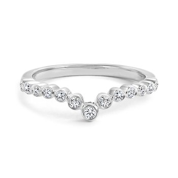 Bezel Diamond Wedding Band