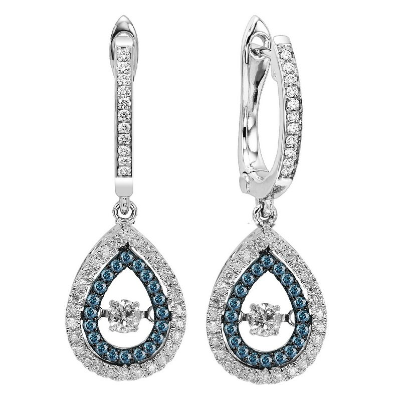 Rhythm of Love 14K Blue & White Diamond Rhythm Of Love Earring 1/2 ctw