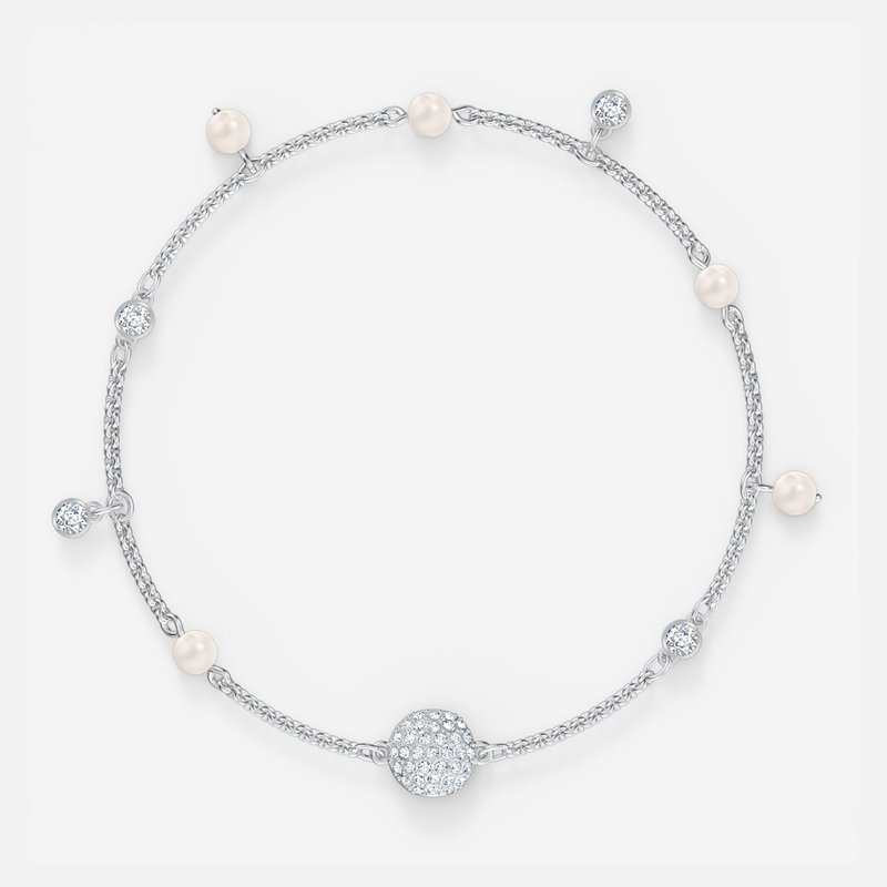 Swarovski Swarovski Remix Collection Delicate Pearl Strand, White, Rhodium plated