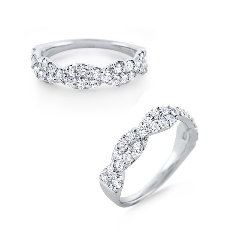 KC Designs Diamond Twist Infinity Band Set in 14 Kt. Gold