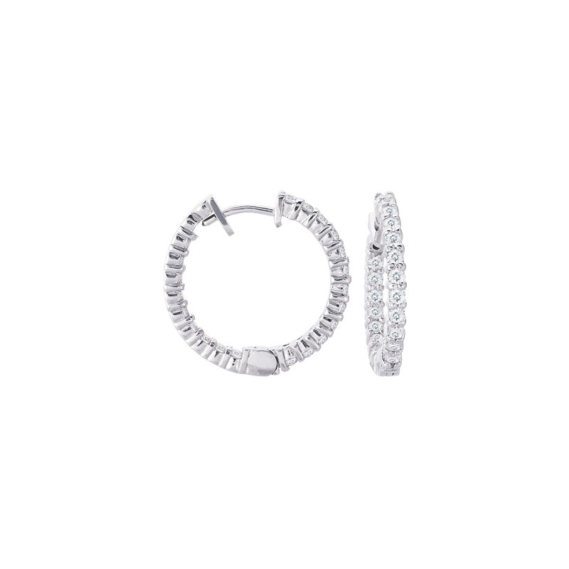 Briana Diamond Hoop Earring 22mm