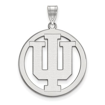 Sterling Silver Indiana University NCAA Pendant