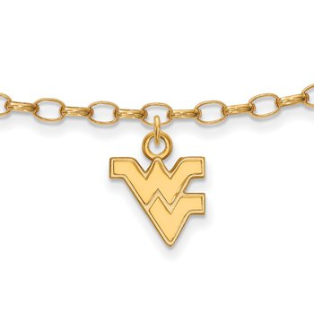 Gold-Plated Sterling Silver West Virginia University NCAA Bracelet