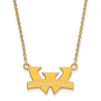Gold-Plated Sterling Silver Wayne State University NCAA Necklace