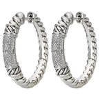Eleganza Ladies Fashion Diamond Hoops