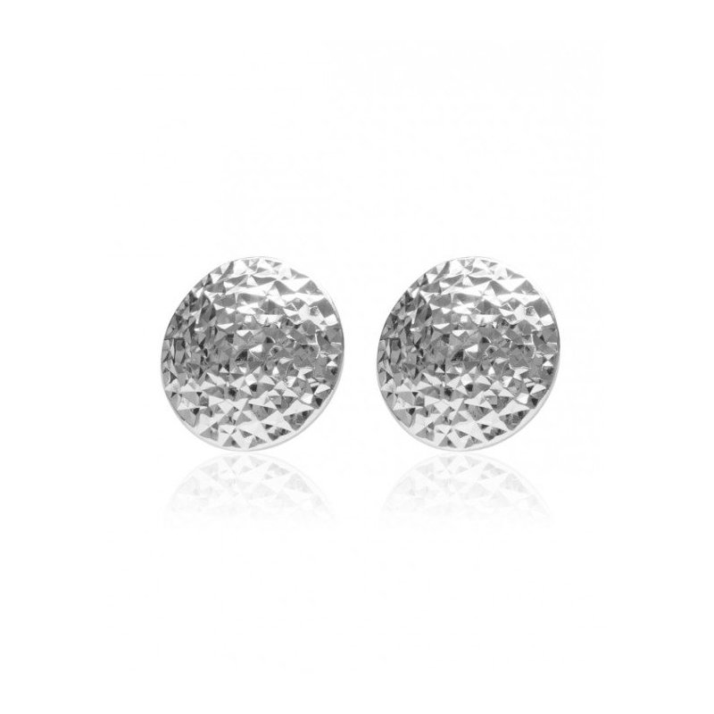 LARUS Jewelry Round Silver Earrings
