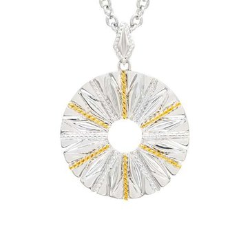 18kt & Sterling Silver Pendant with Chain