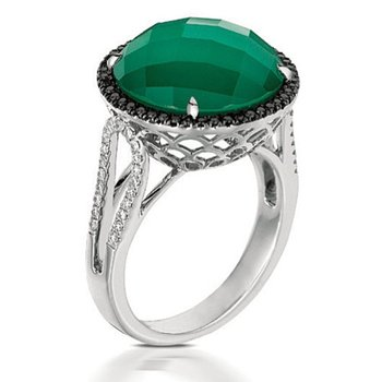 Emerald Dreams Green Agate Ring