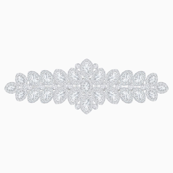 Baron Hair Clip, White, Palladium plating