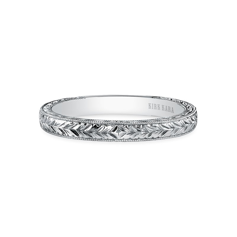 Engraved Milgrain Classic Vintage Wedding Band