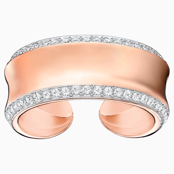 Lakeside Ring, White, Rose-gold tone plated