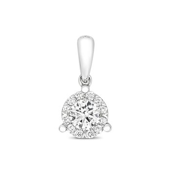 Diamond Brilliant 3 Claw Pendant