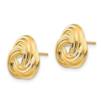 14k Madi K Love Knot Post Earrings