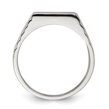 Sterling Silver 6x11mm Open Back Signet Ring
