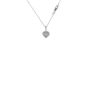 18Kt White Gold Diamond Heart Pendant