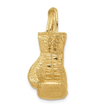 14K Hollow Polished 3-D Boxing Glove Pendant
