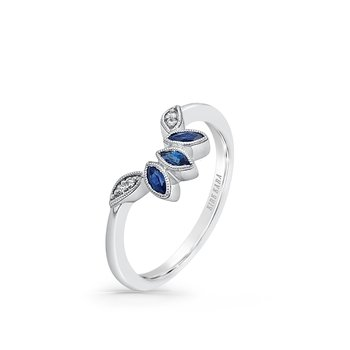 Sapphire Custom Diamond Wedding Band
