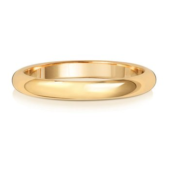 18Ct Yellow Gold 2.5mm D Shape Wedding Ring