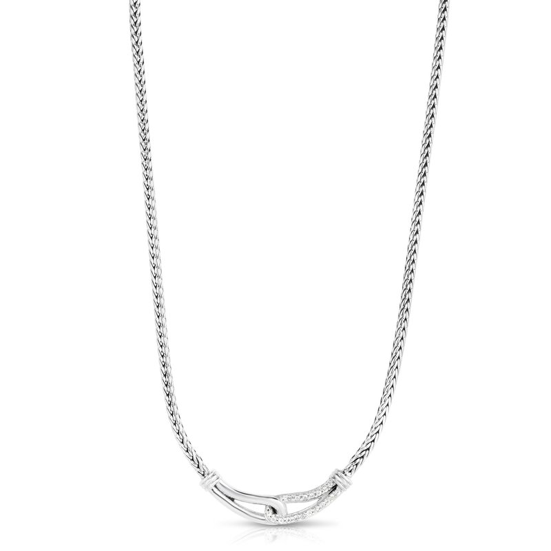 Royal Chain Sterling Silver Sapphire Woven Necklace