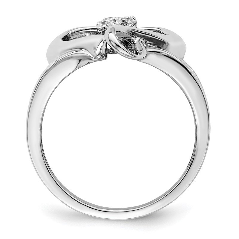 Quality Gold Sterling Silver CZ Pure In Spirit Ring