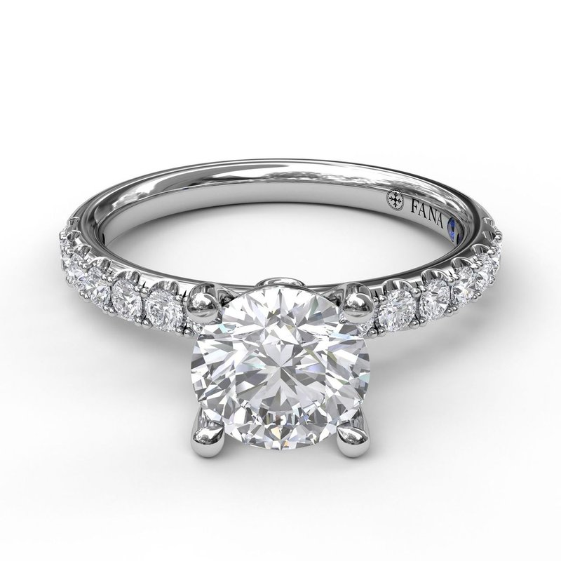 Fana Classic Pave Round Cut Engagement Ring