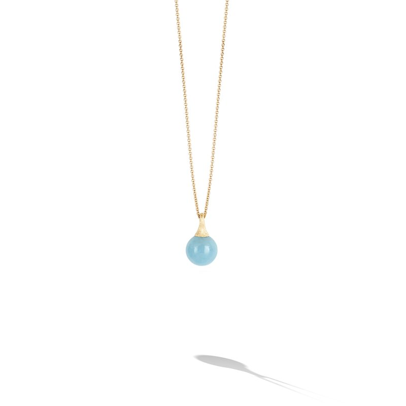 Marco Bicego Africa Boules 18K Yellow Gold and Aquamarine Pendant
