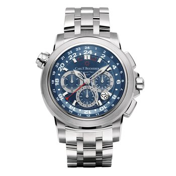 Patravi TravelTec 47mm Stainless Mens Watch