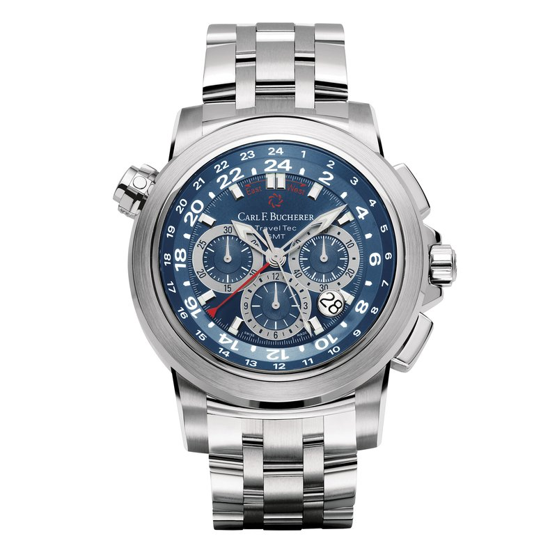 Carl F. Bucherer Patravi TravelTec 47mm Stainless Mens Watch