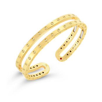 18Kt Gold Double Symphony Pois Moi Bangle