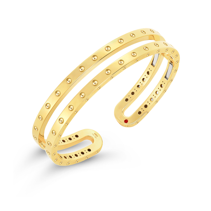 Roberto Coin 18Kt Gold Double Symphony Pois Moi Bangle