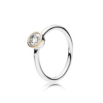 Petite Circle Ring, Clear CZ