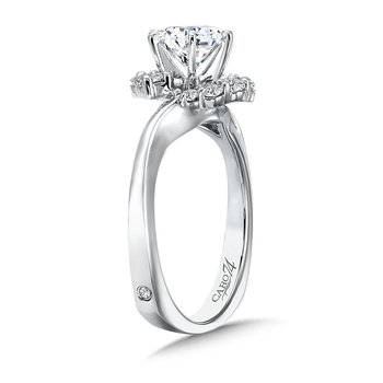 Modernistic Collection Diamond Criss Cross Engagement Ring in 14K White Gold with Platinum Head (1ct. tw.)