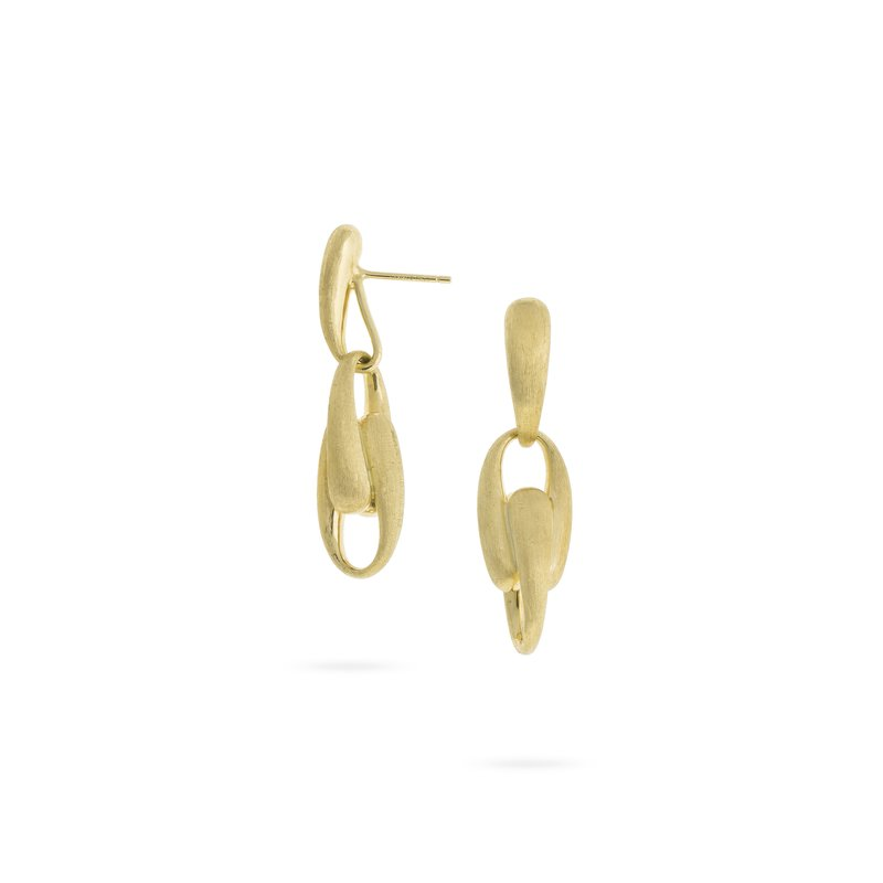 Marco Bicego Lucia Yellow Gold Large Link Drop Earrings