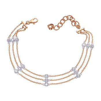 Rose White Gold Diamond By The Yard Brac